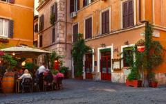 View of the streets of Trastevere, Rome, Italy