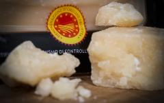 Protected designation of origin Parmigiano-Reggiano cheese. Photo courtesy: Andrea Golod.
