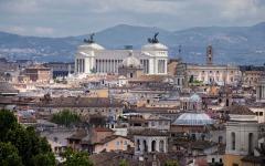 Altare della Patria in Rome, Italy.