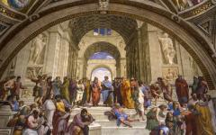 Frescoes painted by Raphael, inside the Vatican.