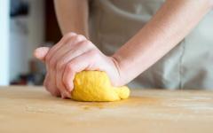 Homemade fresh pasta.
