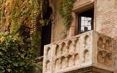The famous balcony of the Casa di Giulietta