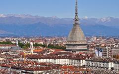 View of the Mole Antonelliana in Turin, Italy
