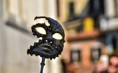 A Venice Carnivale mask