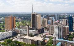 Aerial shot of Nairo, Kenya
