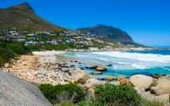 View of a Capetown, South Africa coastline