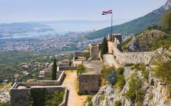 Old fort in Split, Croatia.