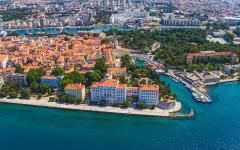 The city of Zadar lies on the Adriatic coast in Croatia.