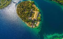 Mljet island along the Adriatic coast.