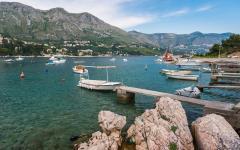 Fishing boats in Dubrovnik, Croatia.