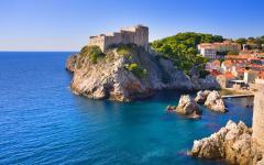 The fortress in Dubrovnik Croatia.