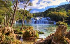 Krka waterfalls in Krka National Park.