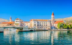 The waterfront looking onto Trogir on the Adriatic coast, Croatia.