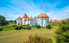 Varaždin Castle dates back to the 14th century near Zagreb in Croatia.