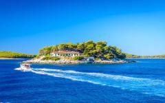 Hell's Island, just off the coast of Hvar Island, Croatia.