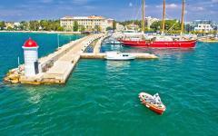 Zadar's harbor situated on Croatia's Dalmatian coast.