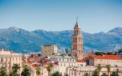 Diocletian palace in Split, Croatia.