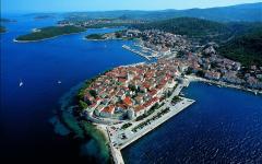 Korcula island along the Dalmatian coast, Croatia.