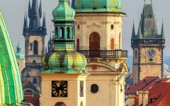 Church in old town square, Prague, Czech Republic.