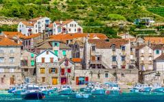 Komiža town on Vis island, Croatia.