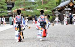 Japan Tour - Two women walking in traditional festival costume