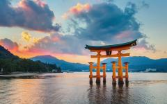 Japan Tour - Hiroshima's Itsukushima Floating Torri Gate