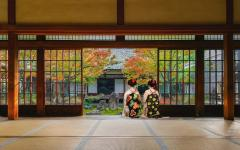 Japan Tour - Kyoto's Kennin-ji Temple with Two Geishas