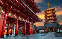 Japan Tour - Tokyo's Ancient Buddhist Temple of Sensoji Temple