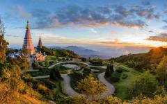 Doi Inthanon National Park at sunset, Chiang Mai, Thailand.