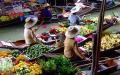 Bangkok floating markets, Thailand.