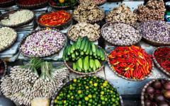 Street market in Hanoi, Vietnam.