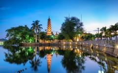 Tran Quoc Pagoda, the oldest Buddhist temple in Hanoi, Vietnam.