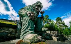 Giant Troll in Hunderfossen Family Park