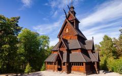 Gol Stave Church in Oslo, Norway