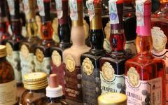 Perfumes and liqueurs on display at the Santa Maria Novella perfumery in Florence. Credit: Vagabondtravels/Flickr