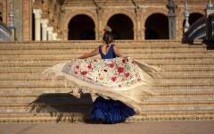 A flamenco dancer in Sevilla.