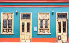 A colorful home in Lima, Peru.