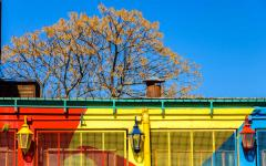 Colorful La Boca neighborhood in Buenos Aires.