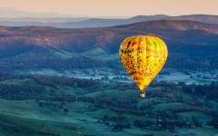 a sunrise hot air balloon flight over the yarra valley in victoria australia