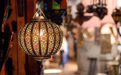 Traditional lamp at market in Marrakech, Morocco.