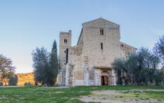 The Abbey of Sant'Antimo in Montalcino, Tuscany.