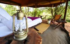 Camping accommodations in Masai Mara National Park Kenya