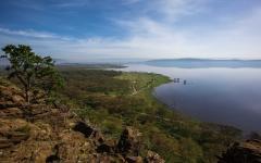 Aerial view of Lake Nakuru in Kenya, Africa