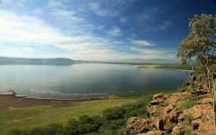Lake Nukuru National Park in Kenya Africa
