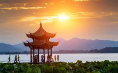 Ancient pavilion of Hangzhou
