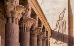 A temple complex on the Island of Philae in Aswan.