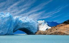 Glacier in El Calafate, Argentina.