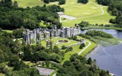 An aerial view of Ashford Castle. Credit: Larry Koester