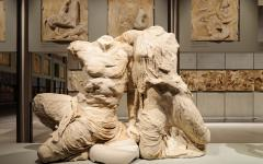 The statues of Cecrops and Pandrosos in the new Acropolis Museum | Athens, Greece