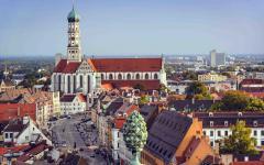 Skyline of Augsburg, Germany